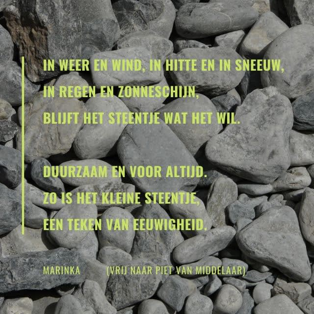 Quote - Een teken van eeuwigheid - vrij naar Piet van Middelaar - Traan en een Lach