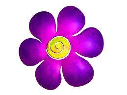 Paars bloemetje - teken van Gitte - Traan en een Lach